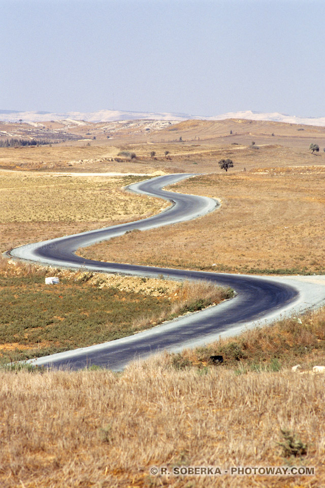 Photo d'une route sinueuse Images photos de routes sinueuses à Chypre