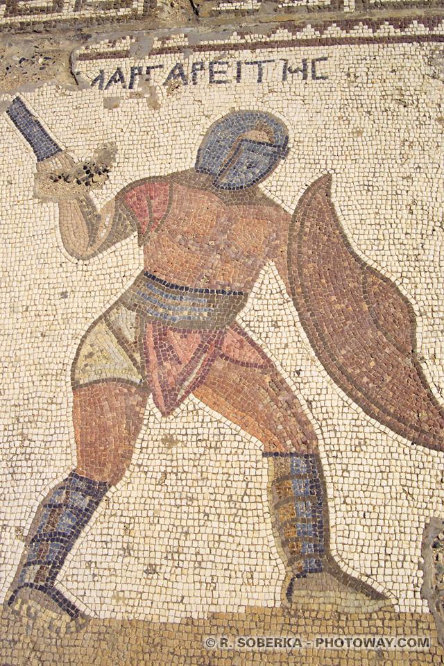 images Photo mosaique romaine photos sur le site de kourion à Chypre