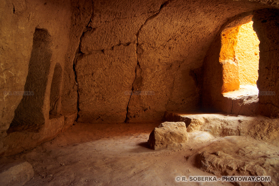 images Photos des catacombes photo du site archéologique de Paphos Chypre