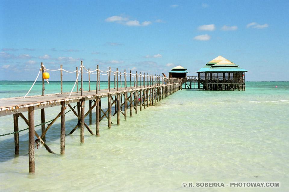 Image de lagons et barrière de corail photo à playa Santa Lucia voyage à Cuba sur Photoway.com