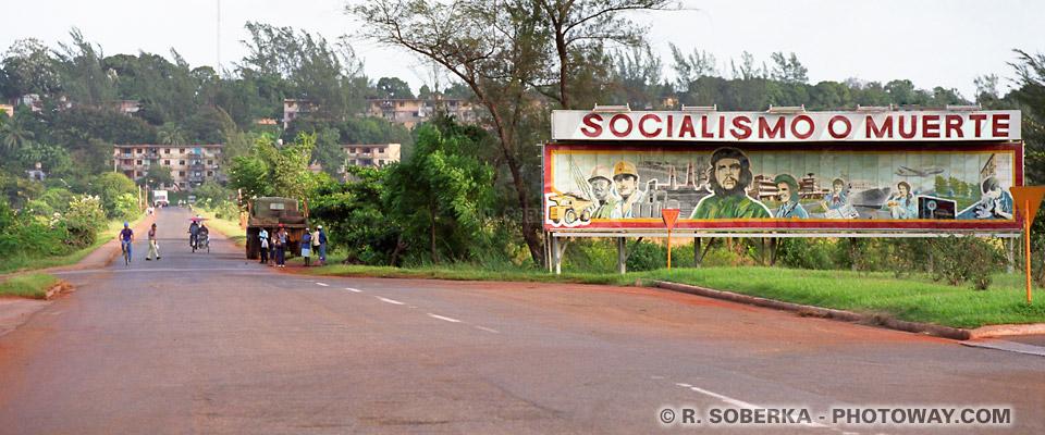 Photos de slogans révolutionnaires de Moa, photo voyage à Cuba