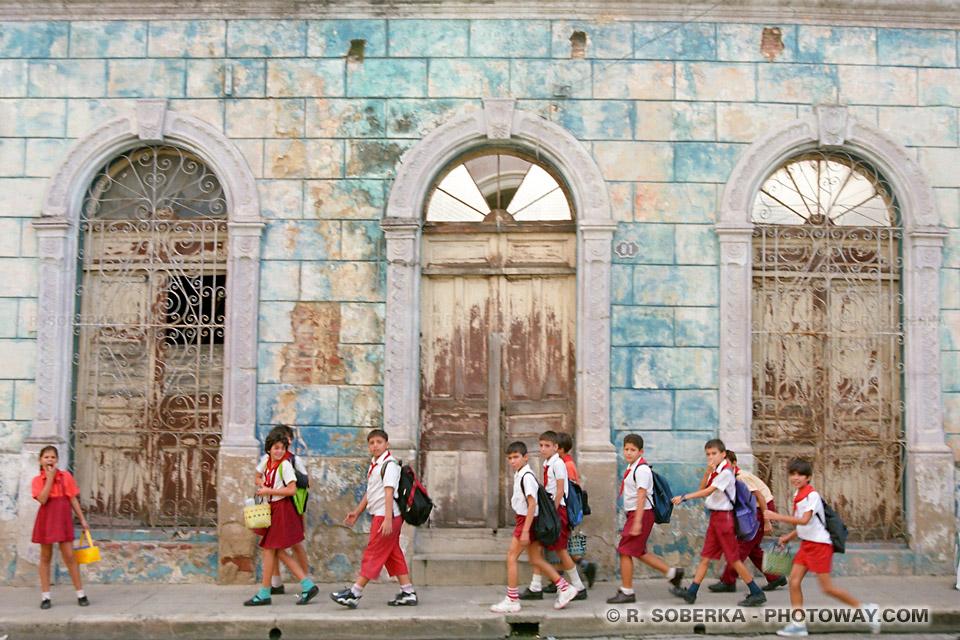 écoliers cubains