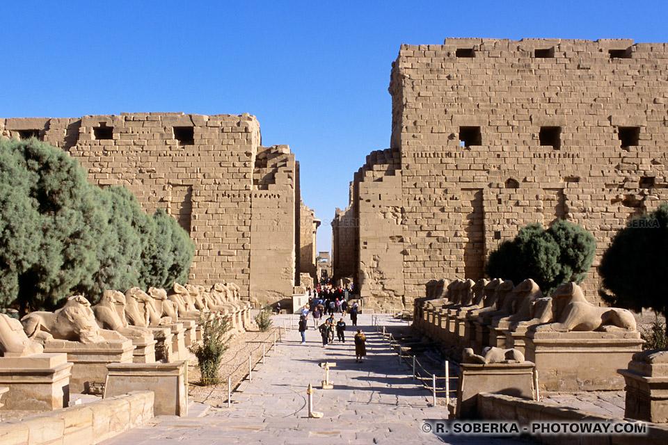 Photos de Karnak en Egypte photo visite de Karnak guide touristique