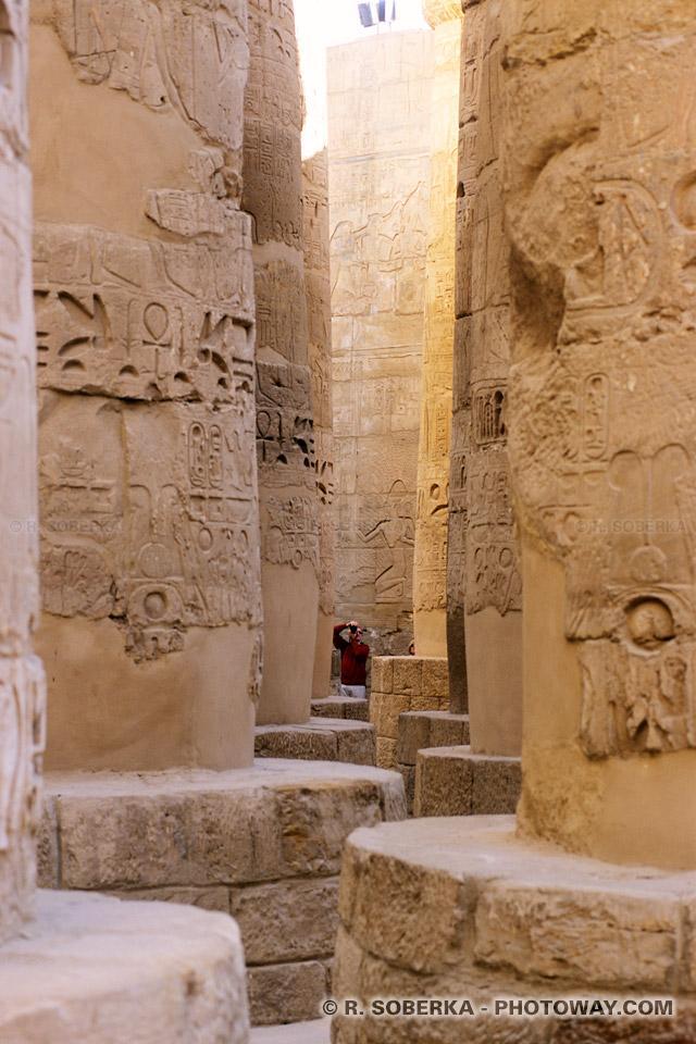 Photo salle hypostyle de Karnak photo colonnes de Karnak Egypte
