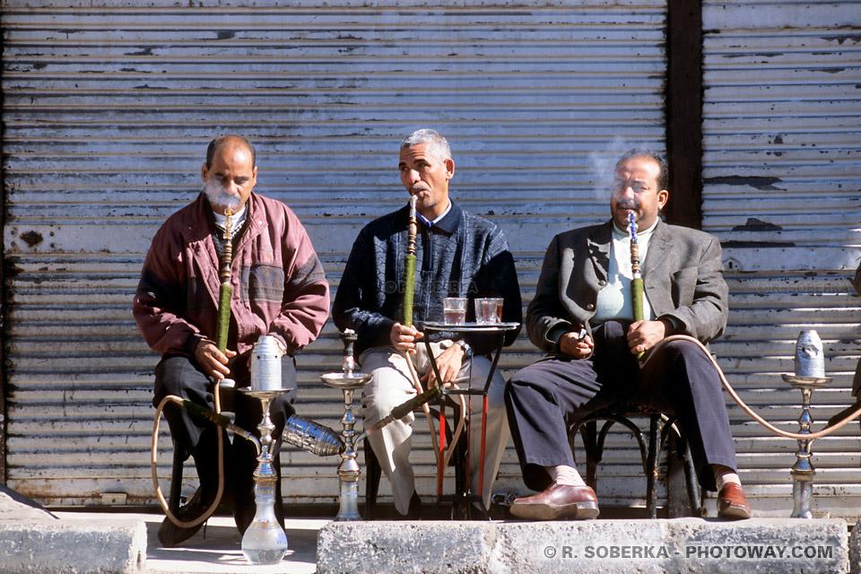 images Photos de fumeurs photo de narguilés Chicha en Egypte reportage