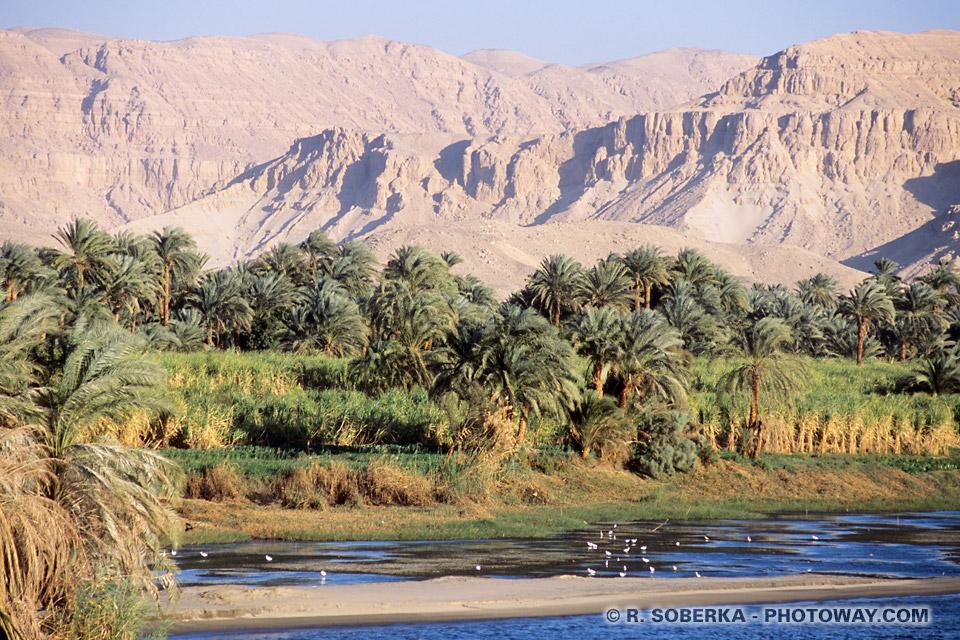 Photos de paysages de la vallée du Nil photo guide voyage en Egypte