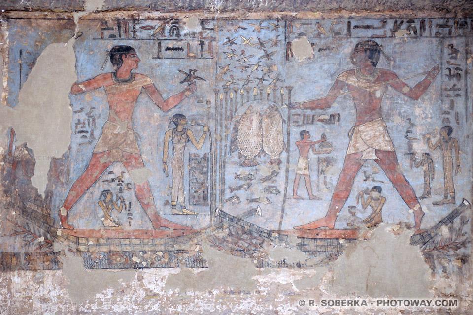 Photos de gravures photo des tombeaux des Princes d'Eléphantine en Egypte