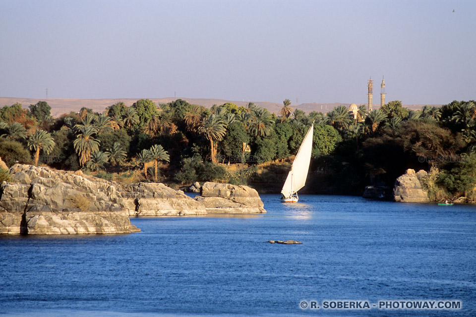 Photos de bateaux felouques photo à Assouan reportage en Egypte