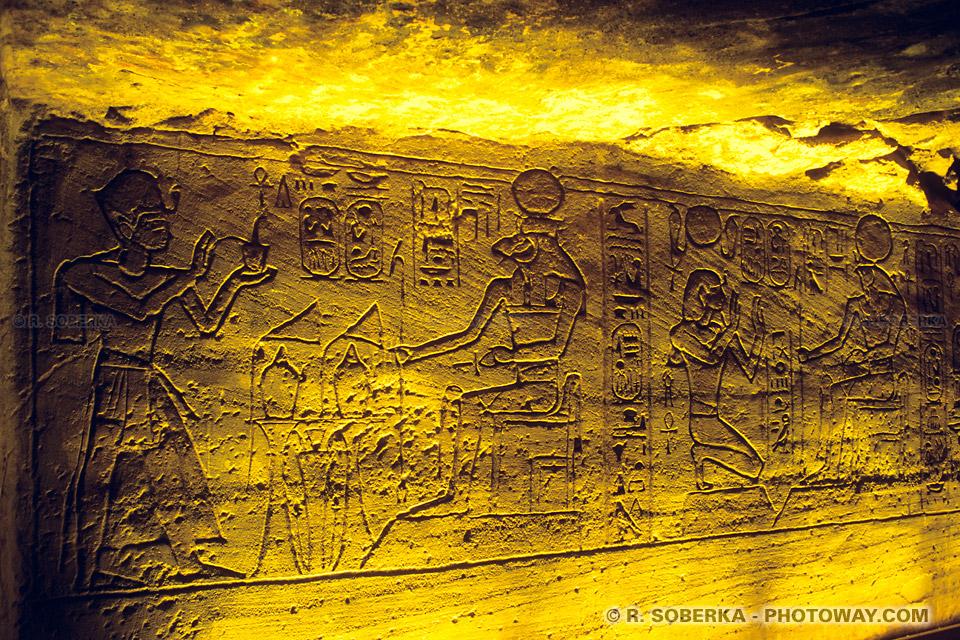 Images de l'Egypte antique image de gravures - temple de Néfertari