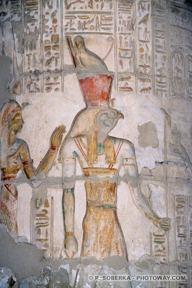 Images Photos de Sobek photo d'Haroéris informations temple Kom Ombo Egypte
