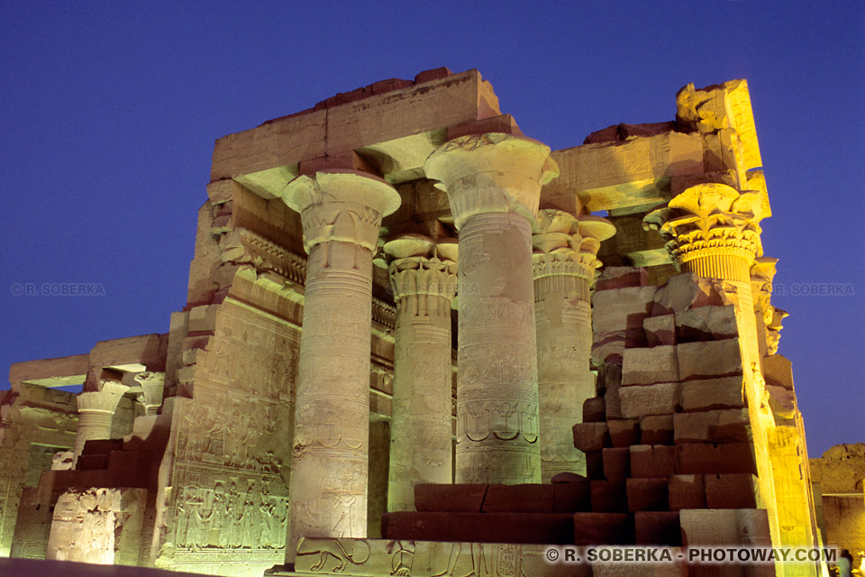 Photos du temple de Kom Ombo photo guide touristique en Egypte