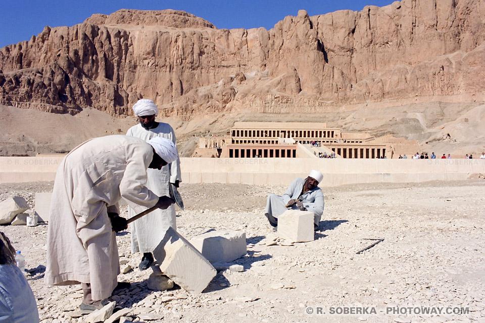 Photos d'artisans du village photo Cheikh Abd El-Gourna en Egypte