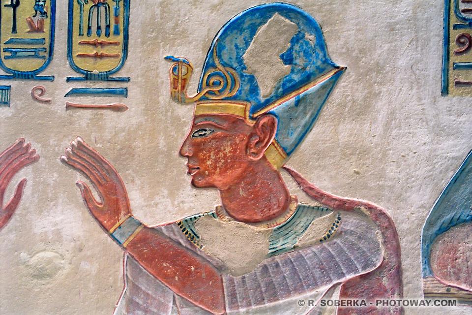 Fond d'écran Pharaon Ramsès III Wallpaper vallée des rois egypte