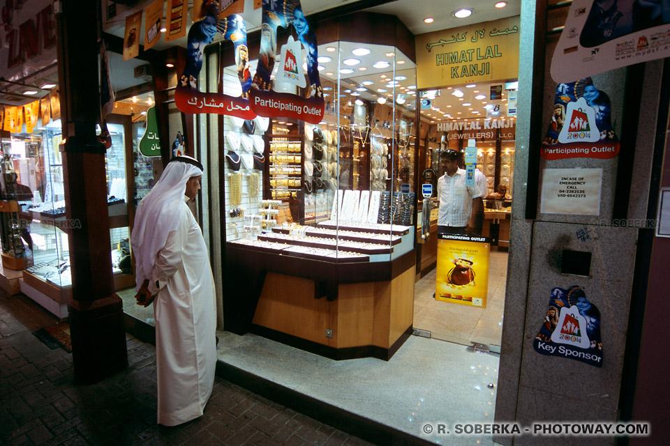 Image Photo du gold souk Dubaï photos de bijouteries aux Emirats Arabes