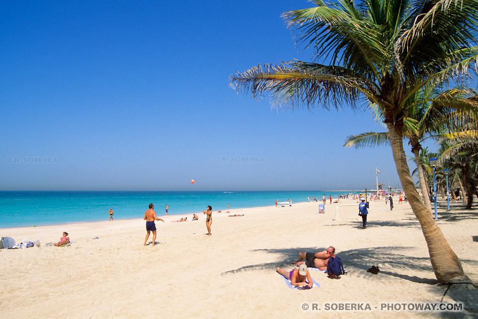 Image Photo de la plage à Dubaï photos de plages Emirats Arabes Unis