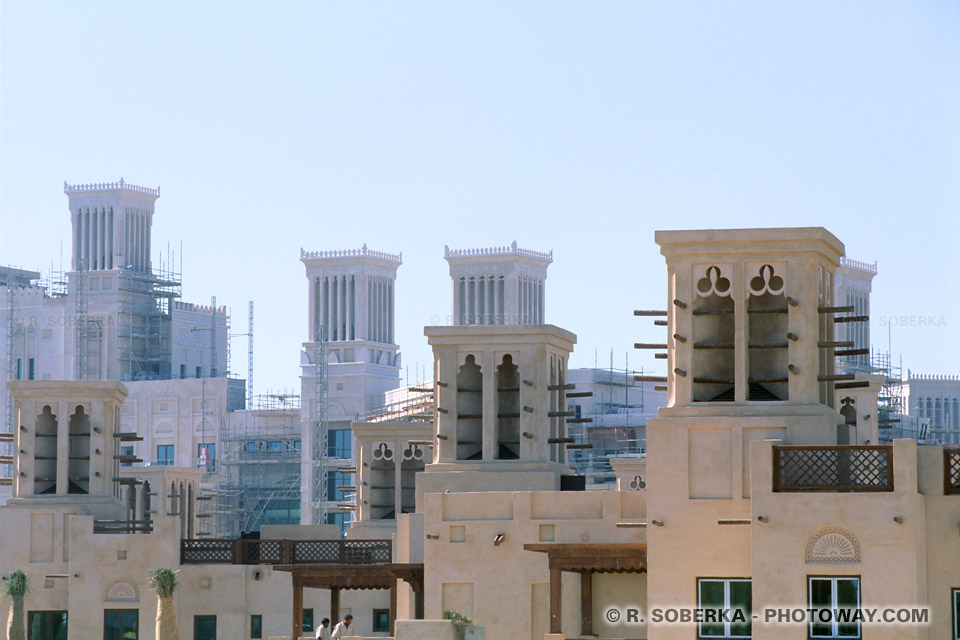 Image Photo Wind Towers photos du Madinat Jumeirah Emirats Arabes Unis