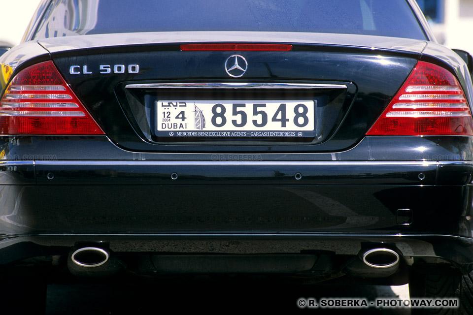 Image Photo d'un coupé Mercedes photos Mercedes CL 500 coupé à Dubaï