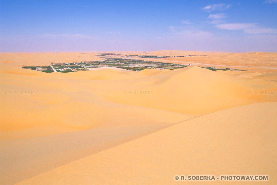 Image Photo oasis de Liwa photos oasis de Liwa dans le desert Arabe