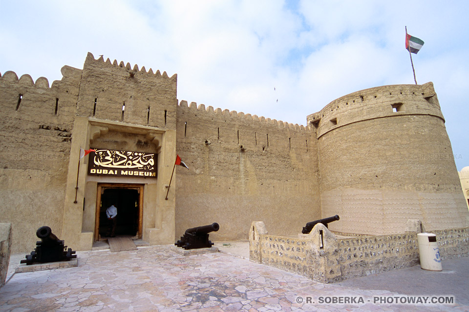 Image Photo du musée de Dubaï photos du fort Al Fahidi Emirats Arabes Unis
