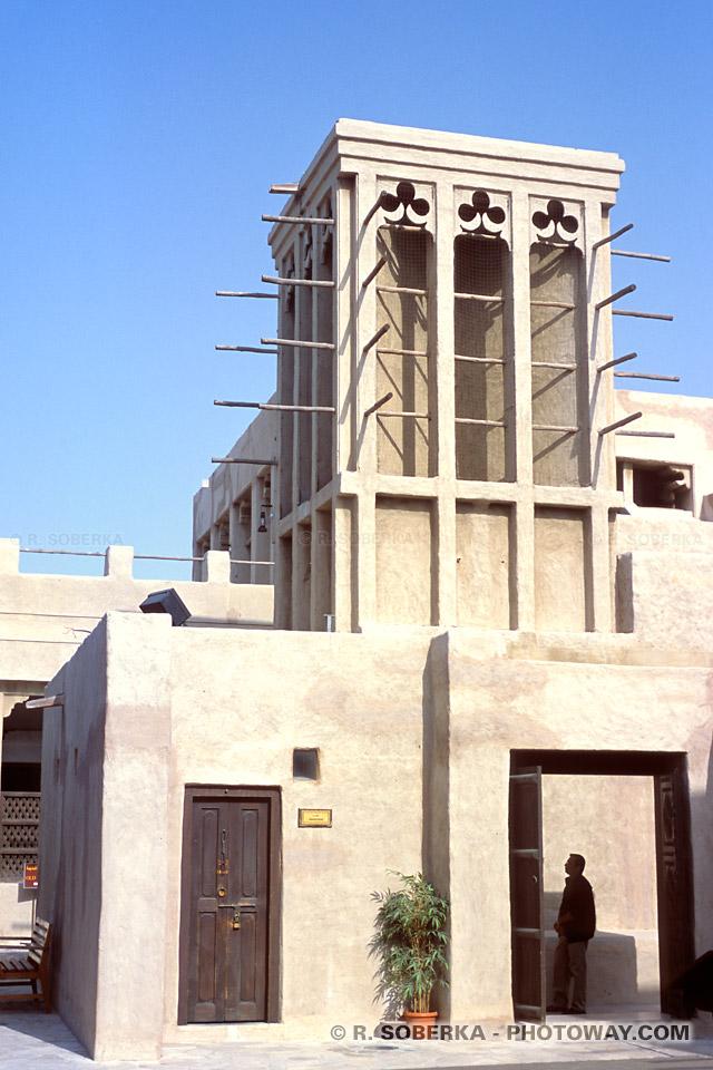 Image Photo maison de Sheikh Saeed Al Maktoum photos wind tower