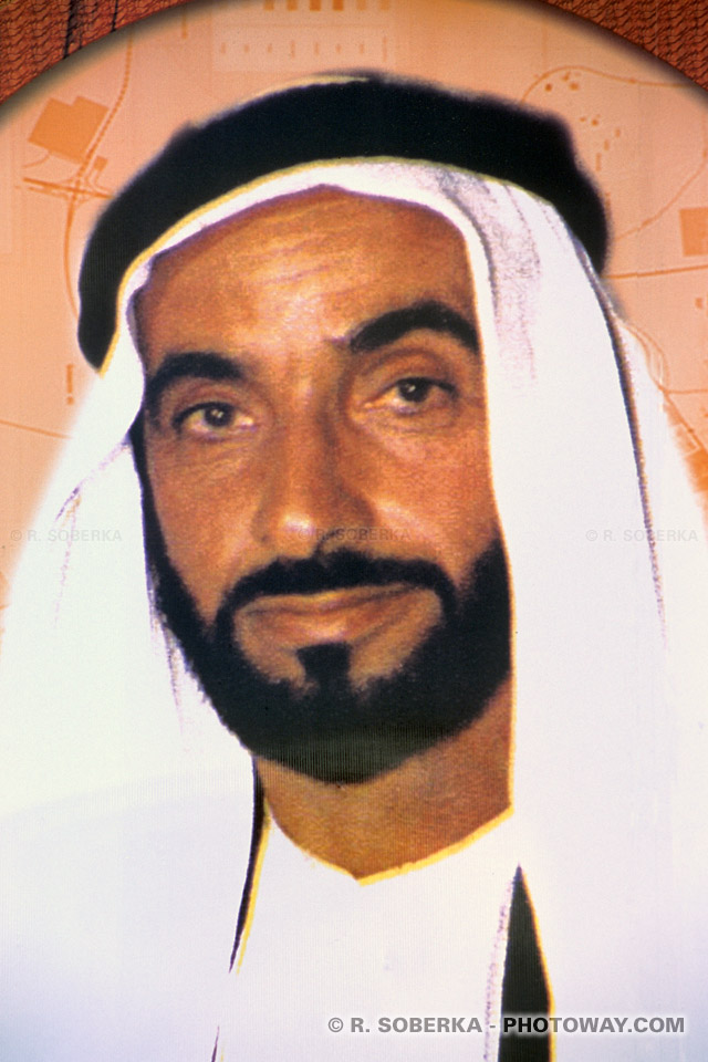Image Photo de Sheikh Zayed photos président des Emirats Arabes Unis