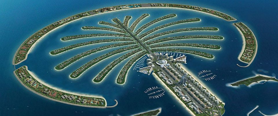 Image Photo de Palm Island île artificielle à Dubaï Emirats Arabes Unis