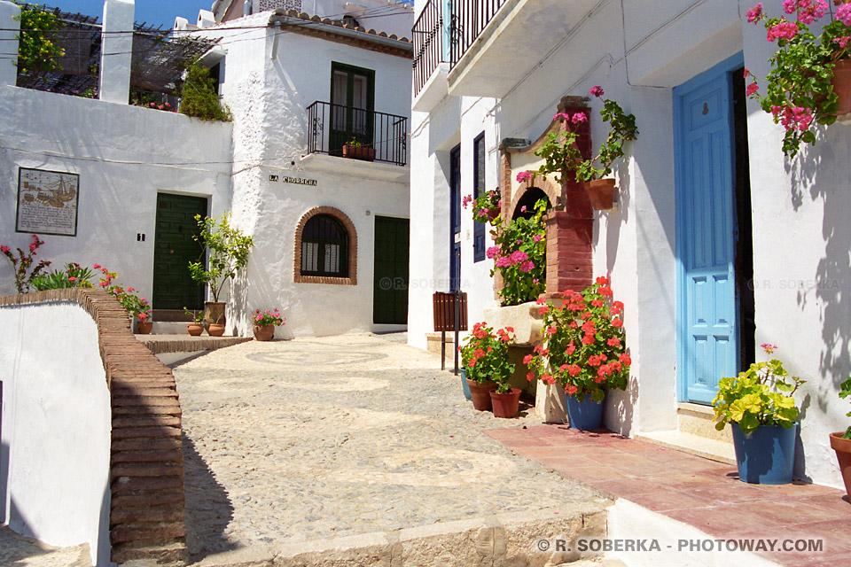 Carte Postale Village Blanc Andalousie