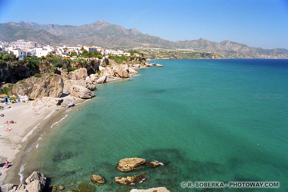 Nerja photo plage en Espagne