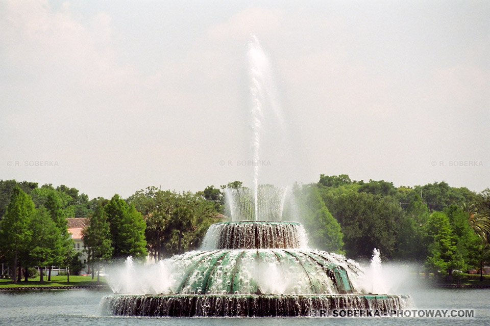 Photos de fontaines du lac Eola photo au centre ville d'Orlando en Floride