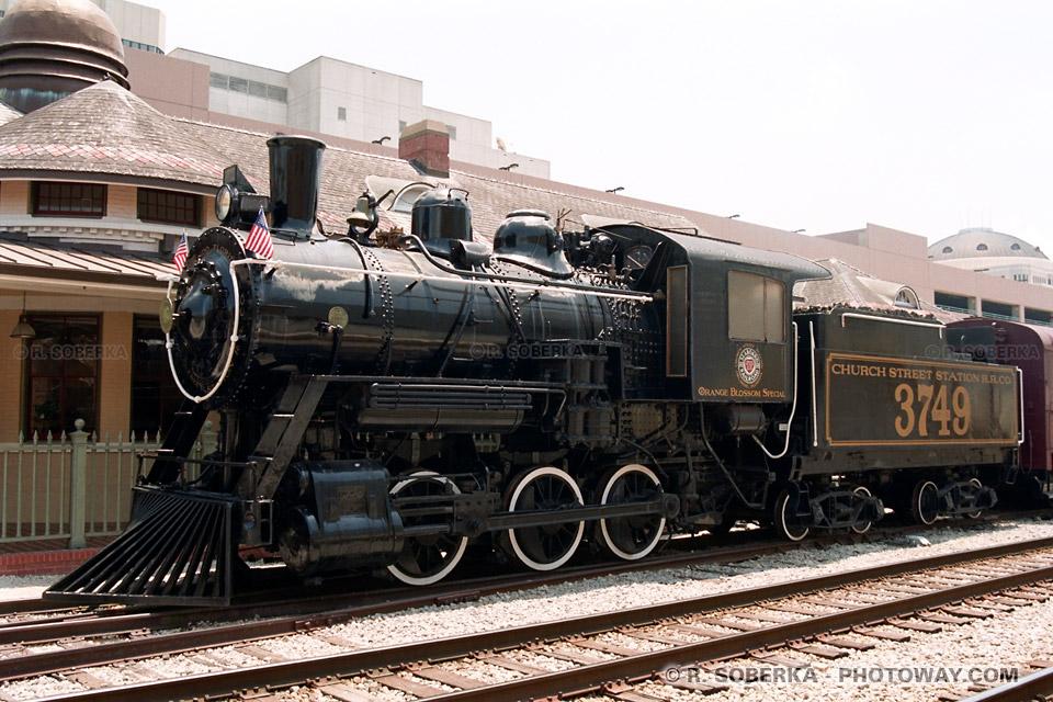 Photos de locomotives à vapeur : photo d'une locomotive à Orlando
