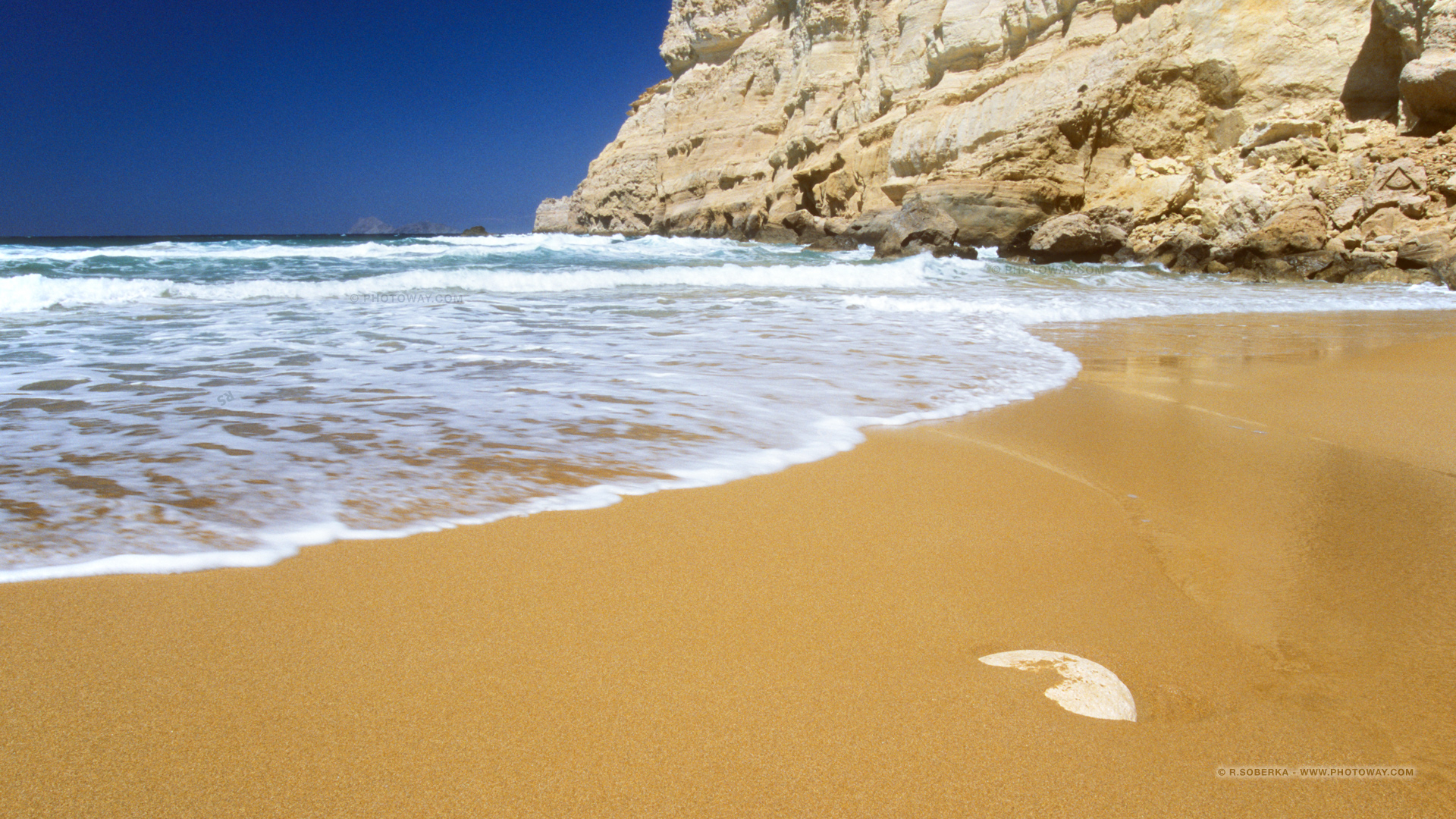 Fond d 39 cran de cr te fond d 39 cran plage en crete papier peint for Fond ecran 17 pouces