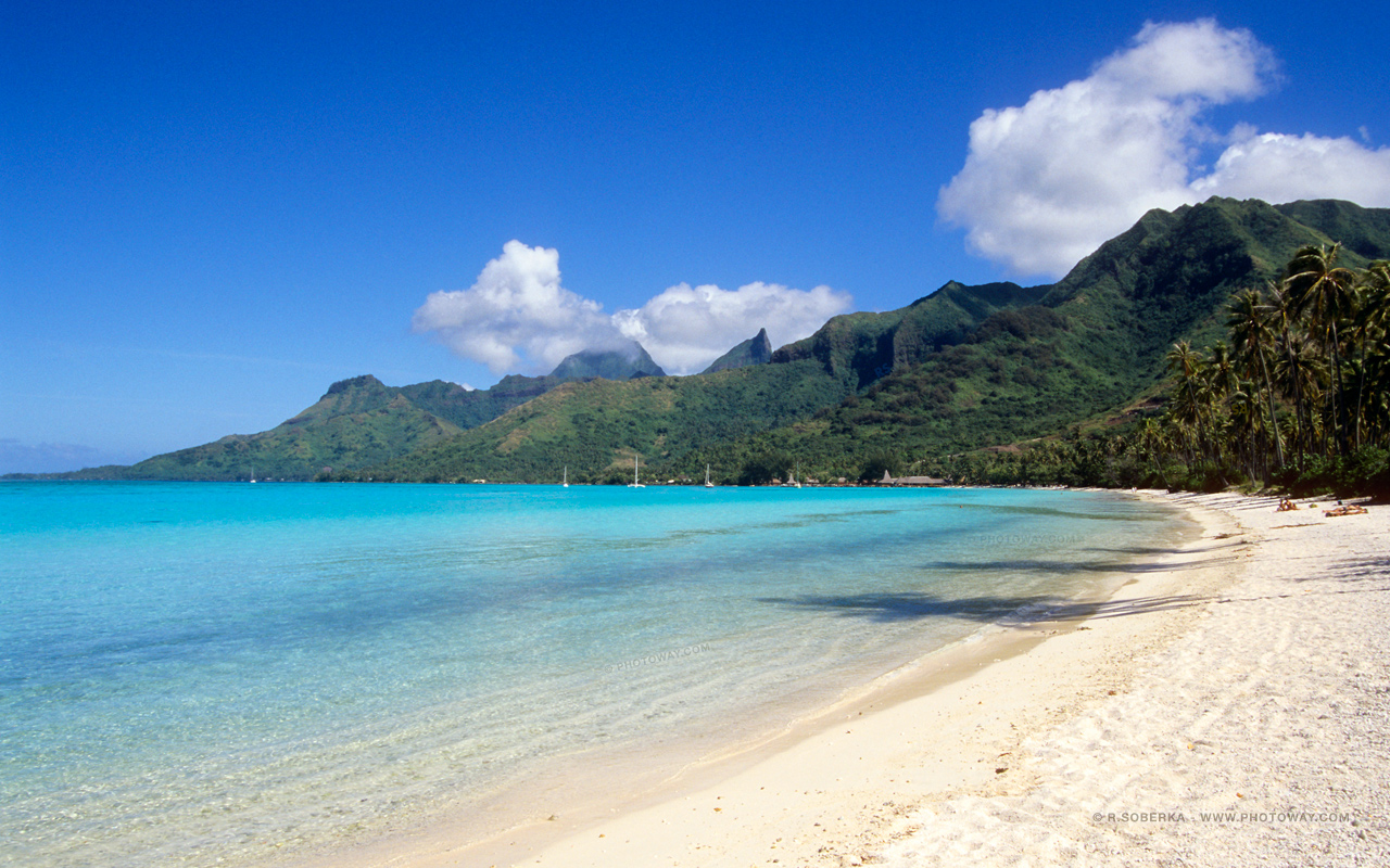 Fond d 39 cran de plage fonds d 39 cran plages wallpaper tahiti for Fond ecran x