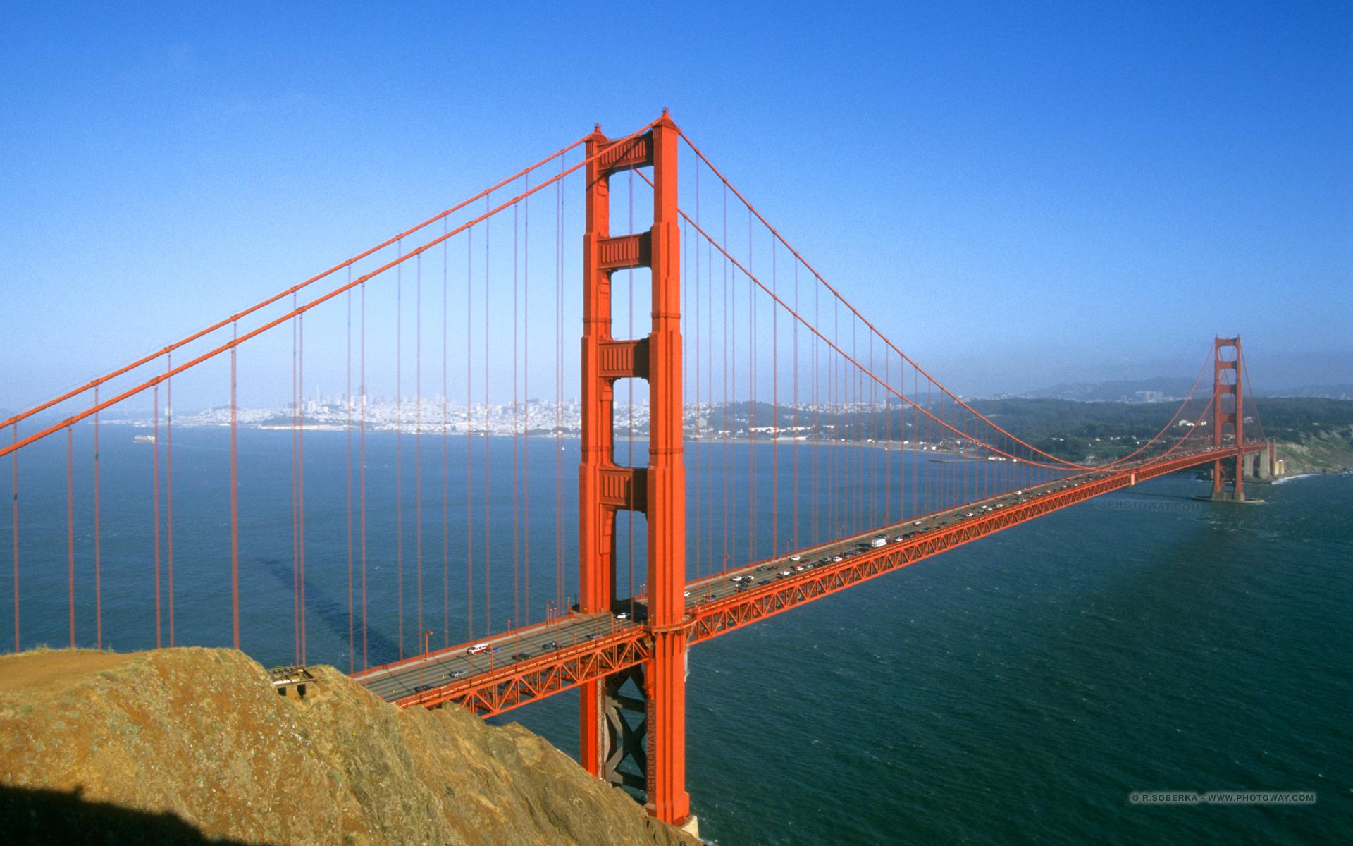 Fond d écran pont golden gate 1920 x 1200