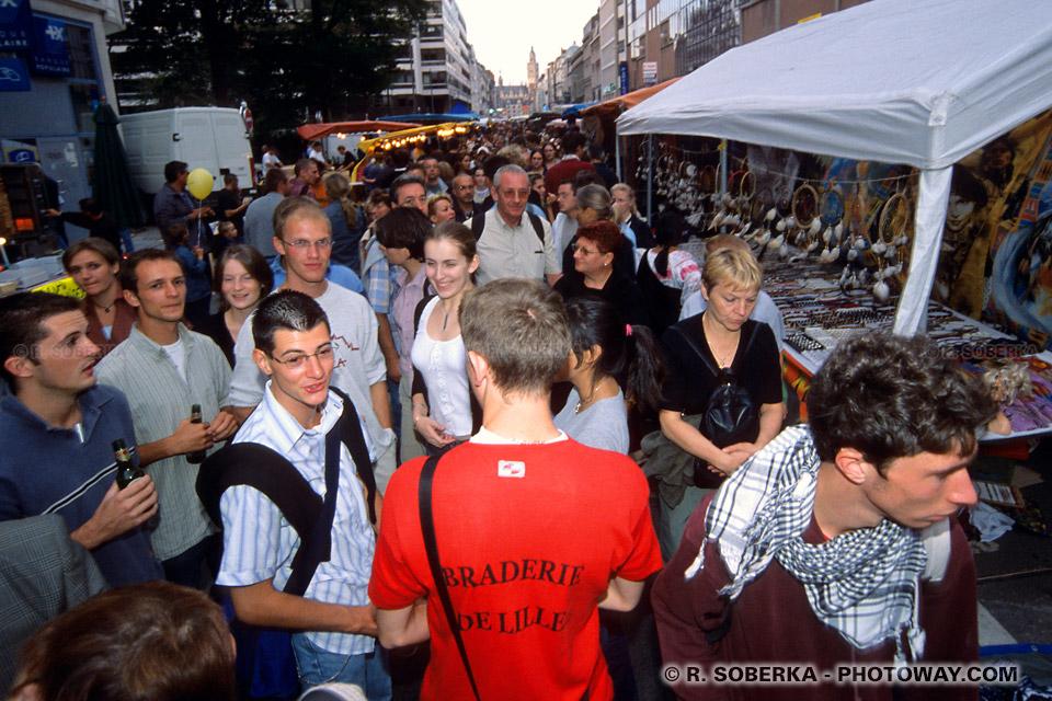 foule à la brade de Lille