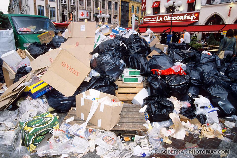 Tas d'ordures à la Braderie de lille