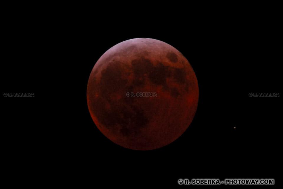 Photo de l'éclipse totale de lune : photo de l'éclipse image Lune rouge