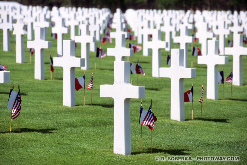 Photos de tombes photo d 39 une tombe de soldat am ricain en normandie - Le bureau croix blanche ...