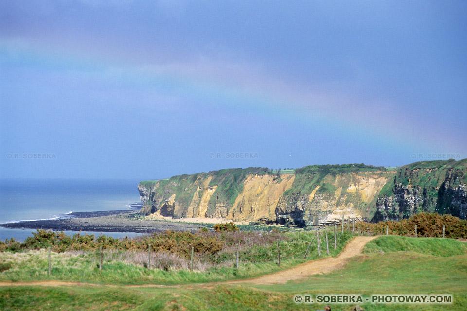 Images Photos de la falaise de la Pointe du Hoc du débarquement en Normandie