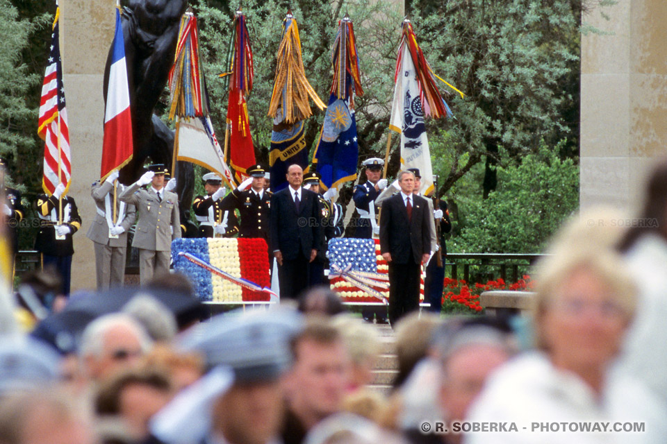 Images Photos Photos de Jacques Chirac photo du président français et George Bush