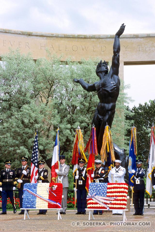 Commémorations du débarquement du 6 juin au cimetière de Colleville