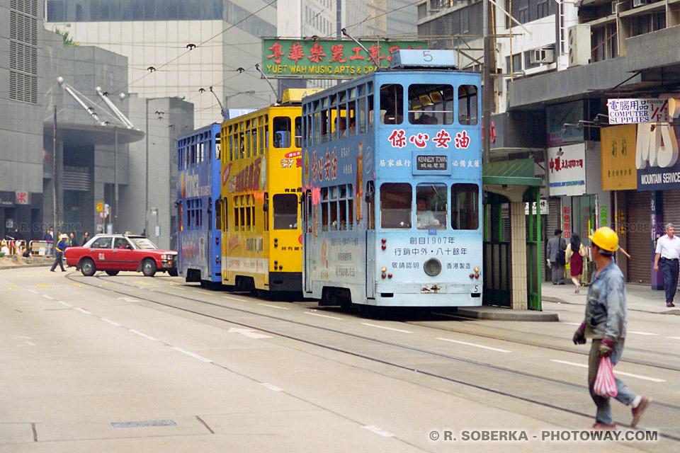 Image photos de tramways photo de Victoria City quartier Hong Kong visite