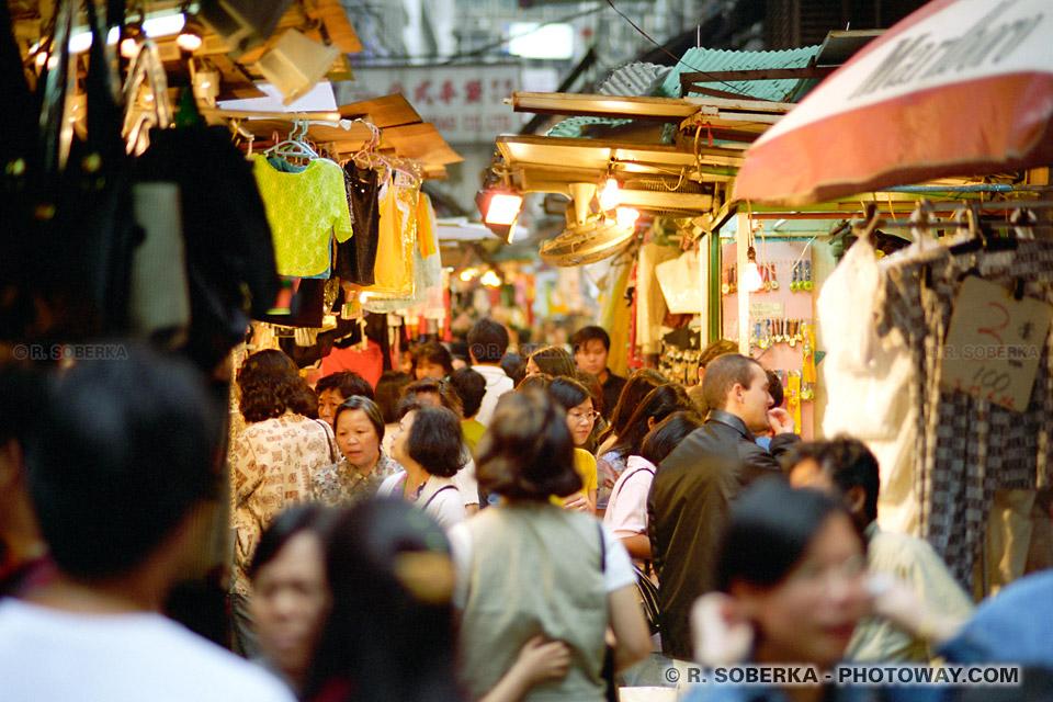 image Photos de foule dans un quartier populaire Hong Kong reportage photo