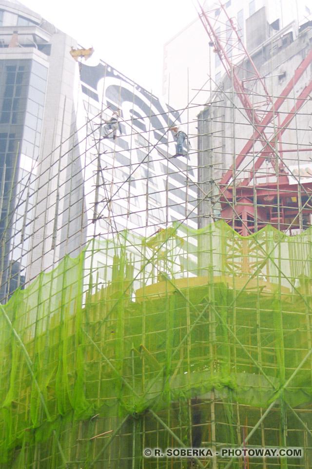 image Photos d'échafaudages en bambou à Hong Kong reportage photo sur photoway