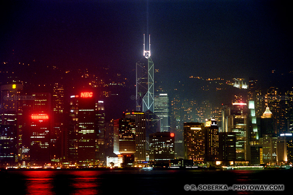Images de gratte ciel de nuit photo reportage à Hong Kong sur photoway