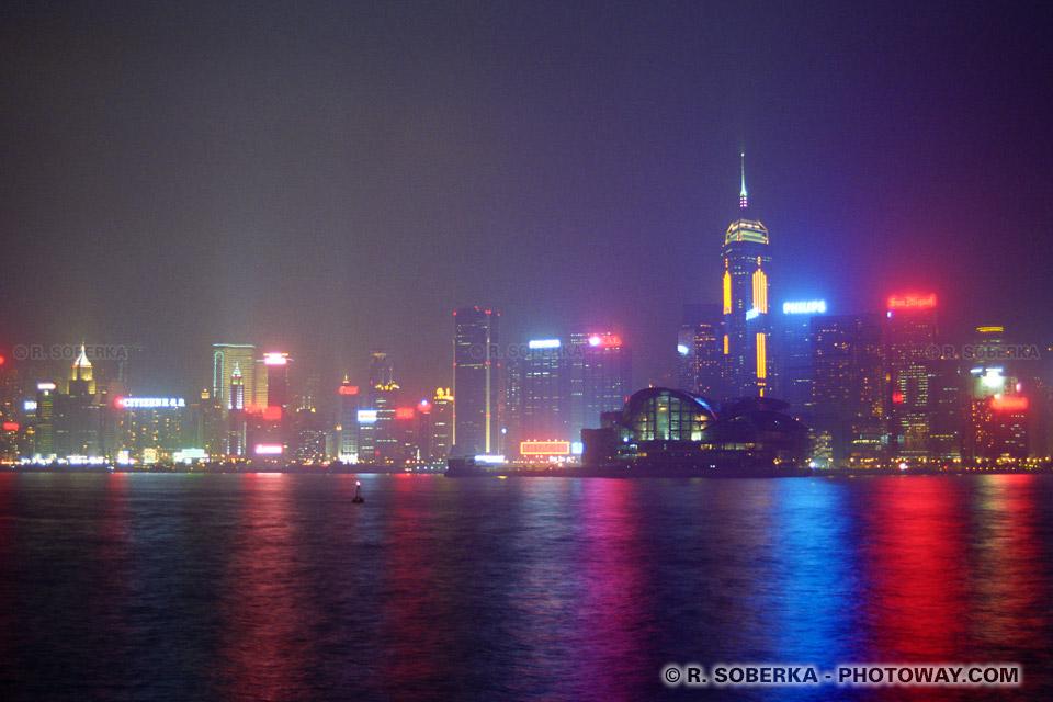 image Photos de Hong Kong photo de nuit reportage et voyage à Hong-Kong