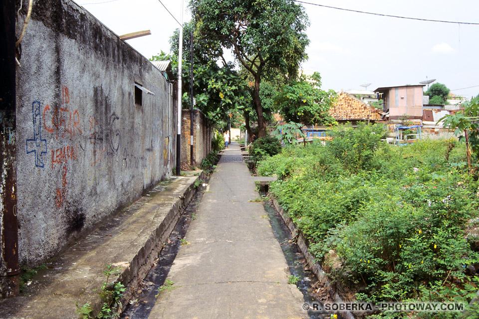 Photos de ruelles de Jakarta et conseils de sécurité en Indonésie