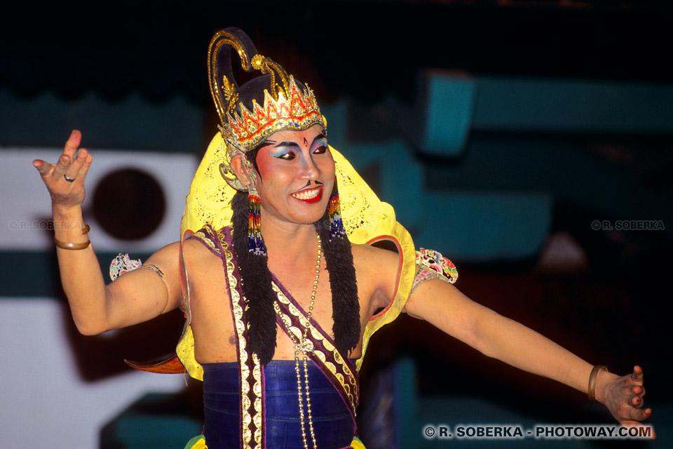 Photos de danseurs : photos d'un danseur de spécatcle Ramayana