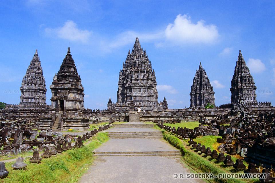 Image de Prambanan site classée patrimoine de l'humanité par l'UNESCO