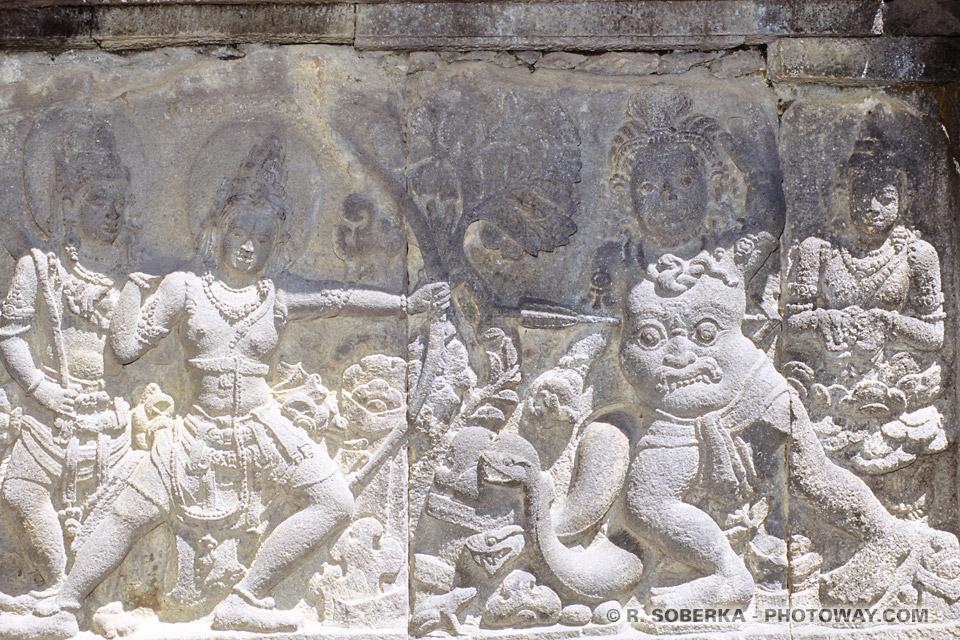 Images de scènes de combats entre le Bien et le Mal Mythologie Hindoue