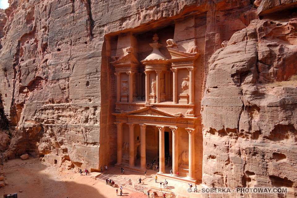 Photos de Petra en Jordanie. Photo du Site Archéologique de Petra